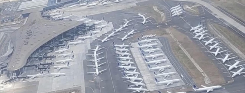 Parked airplanes, photos courtesy of Ishrion Aviation