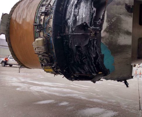United Airlines Engine Explosion