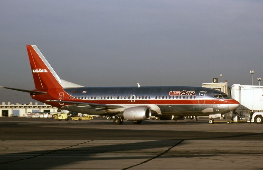 N366AU, a USAir Boeing 737 similar to the one involved in the accident.